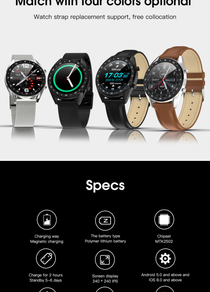 features of gx smartwatch